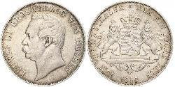 1 Thaler Grand Duchy of Hesse (1806 - 1918) Silver Louis III, Grand Duke of Hesse