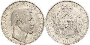 1 Thaler Grand Duchy of Hesse (1806 - 1918) Silver Ferdinand, Landgrave of Hesse-Homburg