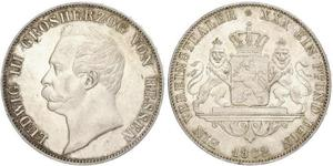 1 Thaler Grand Duchy of Hesse (1806 - 1918) Silver Louis III, Grand Duke of Hesse