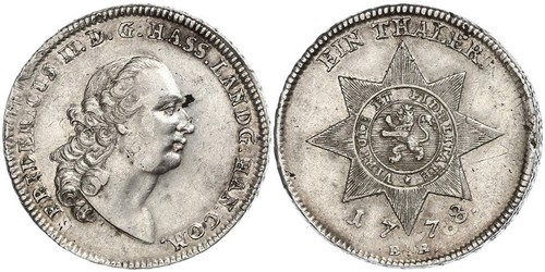 1 Thaler Grand Duchy of Hesse (1806 - 1918) Silver