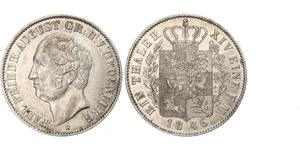1 Thaler Grand Duchy of Oldenburg (1814 - 1918) Silver Augustus, Grand Duke of Oldenburg