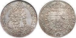 1 Thaler Holy Roman Empire (962-1806) Silver Leopold I, Holy Roman Emperor (1640-1705)