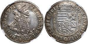 1 Thaler Holy Roman Empire (962-1806) Silver Ferdinand II, Holy Roman Emperor  (1578 -1637)