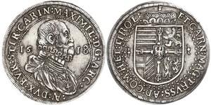 1 Thaler Holy Roman Empire (962-1806) Silver Maximilian III, Archduke of Austria (1558 – 1618)
