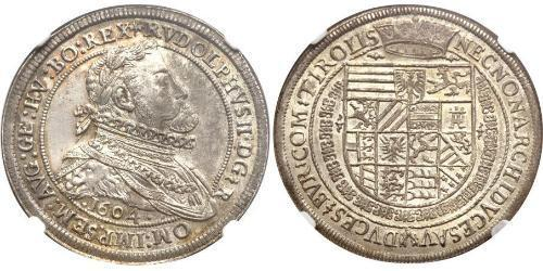 1 Thaler Holy Roman Empire (962-1806) Silver Rudolf II, Holy Roman Emperor (1552 - 1612)