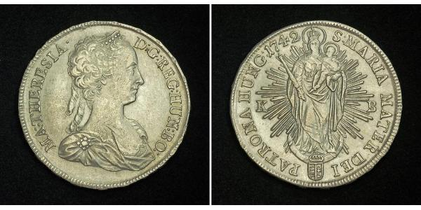 1 Thaler Holy Roman Empire (962-1806) Silver Maria Theresa of Austria (1717 - 1780)