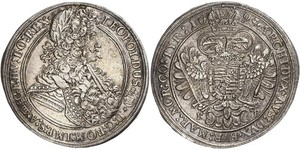 1 Thaler Hungary / Holy Roman Empire (962-1806) Silver Leopold I, Holy Roman Emperor (1640-1705)