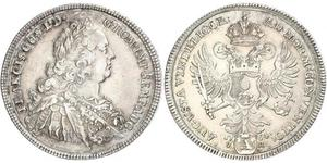1 Thaler Imperial City of Augsburg (1276 - 1803) / Holy Roman Empire (962-1806) Silver Francis I, Holy Roman Emperor (1708-1765)