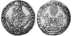 1 Thaler Imperial City of Augsburg (1276 - 1803) Silver Ferdinand II, Holy Roman Emperor  (1578 -1637)