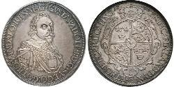 1 Thaler Imperial City of Augsburg (1276 - 1803) Silver Gustavus Adolphus of Sweden (1594 – 1632)