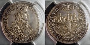 1 Thaler Imperial City of Augsburg (1276 - 1803) Silver Ferdinand III, Holy Roman Emperor (1608-1657)