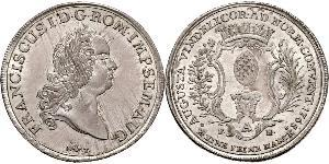 1 Thaler Imperial City of Augsburg (1276 - 1803) Silver Francis I, Holy Roman Emperor (1708-1765)