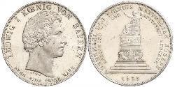 1 Thaler Kingdom of Bavaria (1806 - 1918) Silver Ludwig I of Bavaria (1786 – 1868)