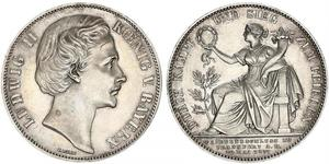 1 Thaler Kingdom of Bavaria (1806 - 1918) Silver Ludwig II of Bavaria (1845 – 1886)