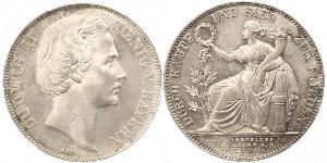 1 Thaler Kingdom of Bavaria (1806 - 1918) Silver Ludwig II of Bavaria (1845 – 1886)