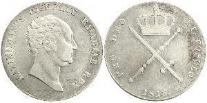 1 Thaler Kingdom of Bavaria (1806 - 1918) Silver Maximilian I Joseph of Bavaria (1756 - 1825)