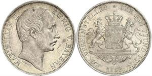 1 Thaler Kingdom of Bavaria (1806 - 1918) Silver Maximilian II of Bavaria (1811 - 1864)