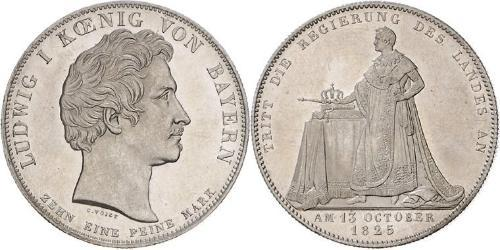 1 Thaler Kingdom of Bavaria (1806 - 1918) Silver Ludwig I of Bavaria (1786 – 1868)