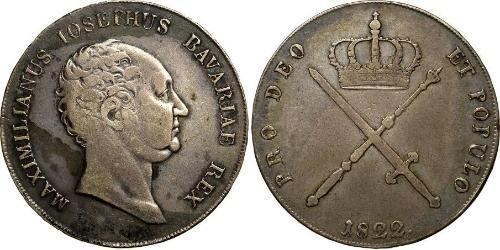 1 Thaler Kingdom of Bavaria (1806 - 1918) Silver Maximilian I Joseph of Bavaria (1756 - 1825)
