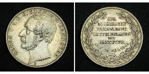 1 Thaler Kingdom of Hanover (1814 - 1866) Silver George V of Hanover (1819 - 1878)