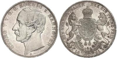 1 Thaler 1866 Kingdom of Hanover (1814 - 1866) Silver George