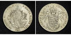 1 Thaler Kingdom of Hungary (1000-1918) Silver Joseph II, Holy Roman Emperor  (1741 - 1790)