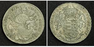 1 Thaler Kingdom of Hungary (1000-1918) Silver Maria Theresa of Austria (1717 - 1780)