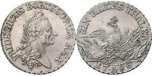 1 Thaler Kingdom of Prussia (1701-1918) Silver Frederick II of Prussia (1712 – 1786)