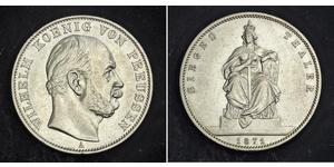 1 Thaler Kingdom of Prussia (1701-1918) Silver Wilhelm I, German Emperor (1797-1888)