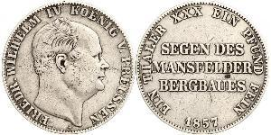 1 Thaler Kingdom of Prussia (1701-1918) Silver Frederick William IV of Prussia (1795 - 1861)