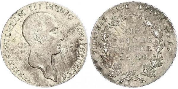 1 Thaler Kingdom of Prussia (1701-1918) Silver Frederick William III of Prussia (1770 -1840)