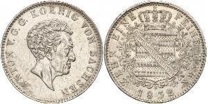 1 Thaler Kingdom of Saxony (1806 - 1918) Silver