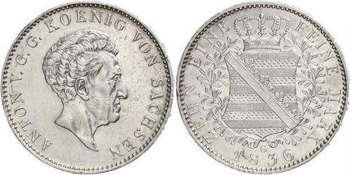 1 Thaler Kingdom of Saxony (1806 - 1918) Silver