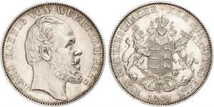 1 Thaler Kingdom of Württemberg (1806-1918) Silver Charles I of Württemberg