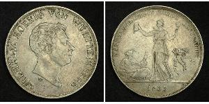1 Thaler Kingdom of Württemberg (1806-1918) Silver William I of Württemberg
