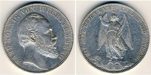 1 Thaler Kingdom of Württemberg (1806-1918) Silver