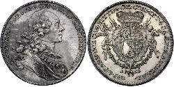 1 Thaler Liechtenstein Silver Joseph Wenzel of Liechtenstein (1696 - 1772)