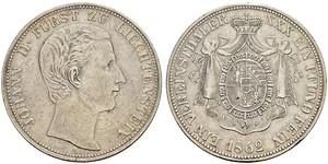 1 Thaler Liechtenstein Silver Johann II, Prince of Liechtenstein (1840-1929)