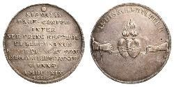 1 Thaler Polish-Lithuanian Commonwealth (1569-1795) Silver Augustus II the Strong (1670 - 1733)