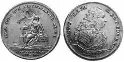 1 Thaler Principality of Ansbach (1398–1792) Silver Charles William Frederick, Margrave of Brandenburg-Ansbach (1712 – 1757)