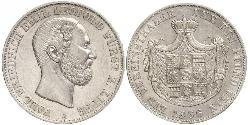 1 Thaler Principality of Lippe (1123 - 1918) Silver Leopold III, Prince of Lippe
