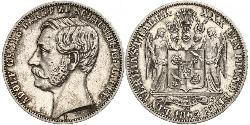 1 Thaler Principality of Schaumburg-Lippe (1643 - 1918) Silver Adolf I, Prince of Schaumburg-Lippe
