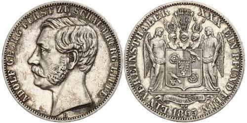 1 Thaler Principality of Schaumburg-Lippe (1643 - 1918) Silver Adolf I, Prince of Schaumburg-Lippe