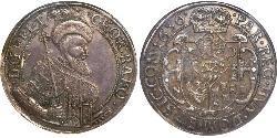 1 Thaler Principality of Transylvania (1571-1711) Silver György Rákóczi II,  prince of Transylvania (1621 -1660)