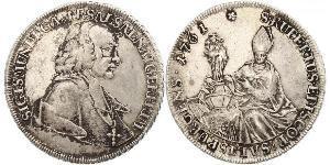 1 Thaler Salzburg Silver Sigismund von Schrattenbach