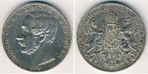1 Thaler States of Germany Silver George V of Hanover (1819 - 1878)