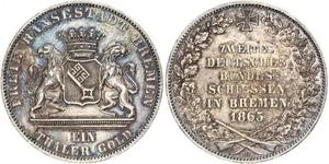 1 Thaler Bremen (state) / States of Germany Silver