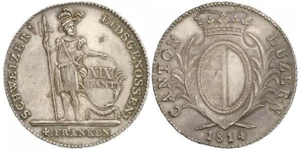 1 Thaler Switzerland Silver