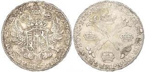 1 Thaler / 1 Krone Austrian Netherlands (1713-1795) Silver Maria Theresa of Austria (1717 - 1780)