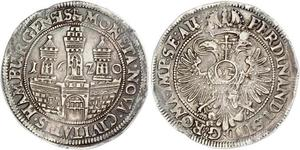 1 Thaler / 32 Shilling Hamburgo Plata Fernando II de Habsburgo(1578 -1637)